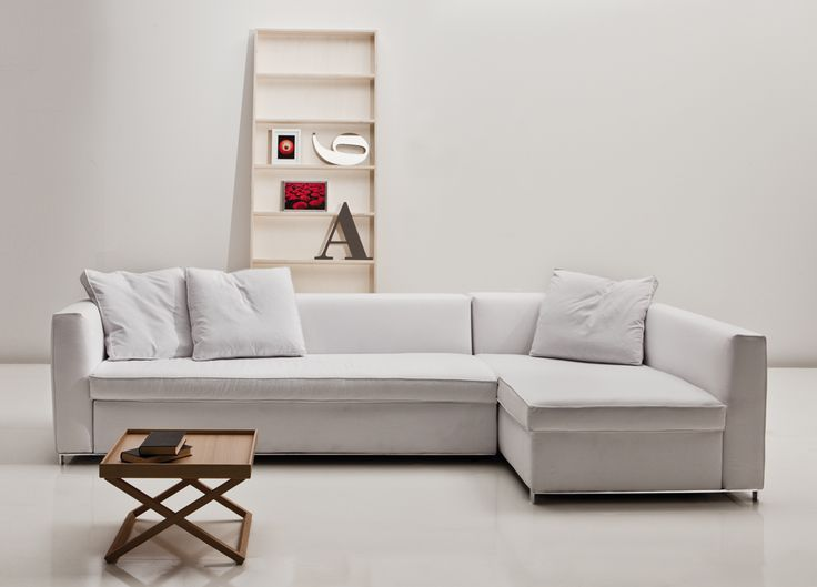 White corner sofa bed always interesting, and eye catching