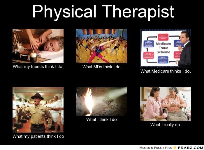 b68066150d8ebc8cf75942b9ed3ddcee pta school physical therapist 14 best physical therapy images on pinterest physical therapist,What My Parents Think I Do Meme Maker