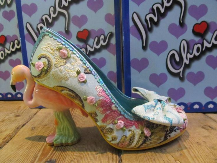 Ladies Girl Green Pink Flamingo Irregular Choice Blushing Bird Floral Court Shoe in Clothes, Shoes & Accessories, Women's Shoes, Heels | eBay