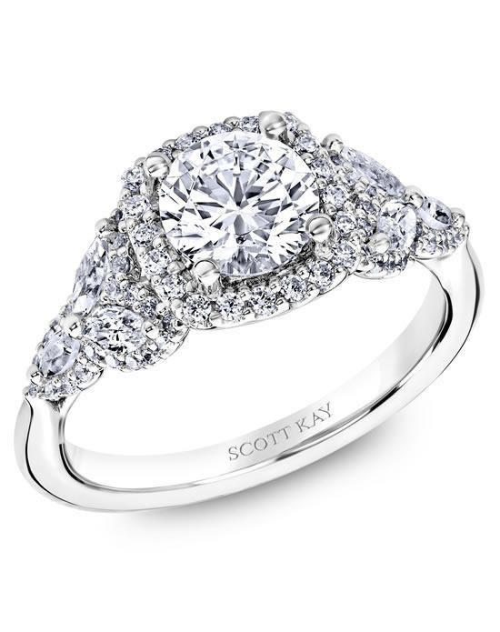 Scott Kay platinum engagement ring with cushion halo mounting, featuring marquise accents enveloped by round diamonds I Style: M2574RM515 I https://www.theknot.com/fashion/m2574rm515-scott-kay-engagement-ring?utm_source=pinterest.com&utm_medium=social&utm_content=june2016&utm_campaign=beauty-fashion&utm_simplereach=?sr_share=pinterest