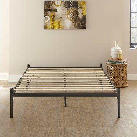 Home Metal Platform Bed Platform Bed Frame Solid Wood Platform Bed