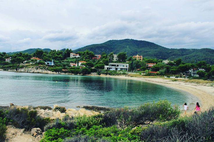 Love those hidden bays  #traveling #discover #greece #greek_islands #travel_greece #chalkidiki #emerald #seaside #panorama #colourful #bay #mysteriousgreece