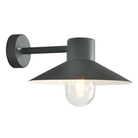 Norlys Lund Svart Ip55 Vägglampa