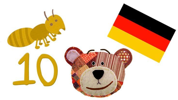 Aprende los números en alemán - Con dibujos de insectos