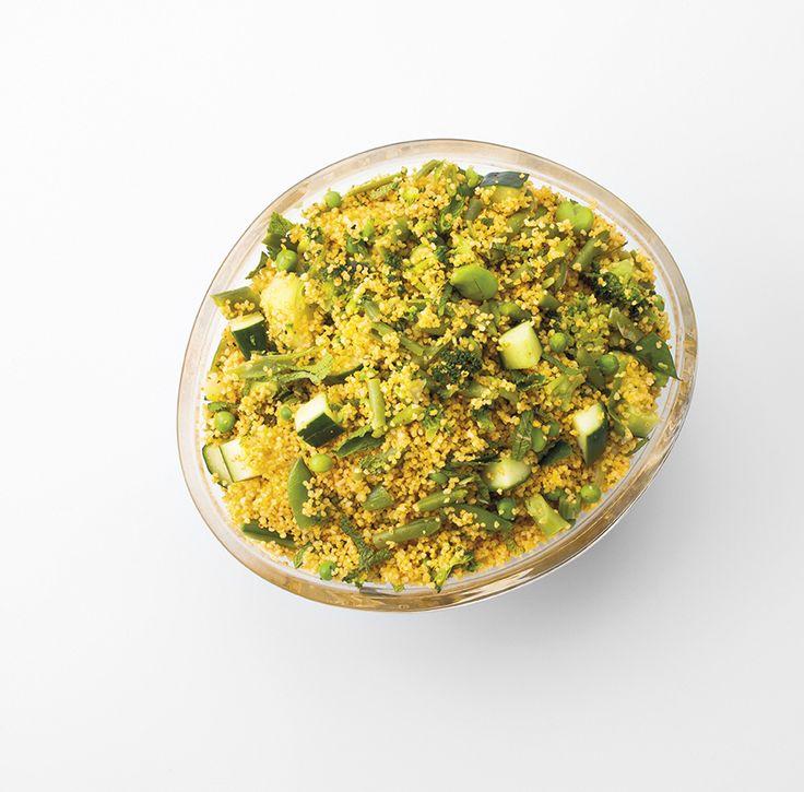 GRANDE SALADE  Conseillé pour 10 personnes Taboulé aux épices, légumes verts, concombre et menthe