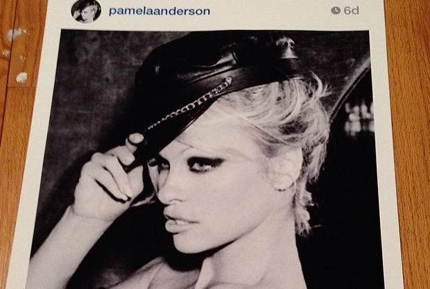 Pamela Anderson by Richard Prince, from Richard Prince's Instagram account