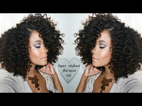 Natural Hair   Defined Flat-Twist Out Routine (With Volume!) - YouTube