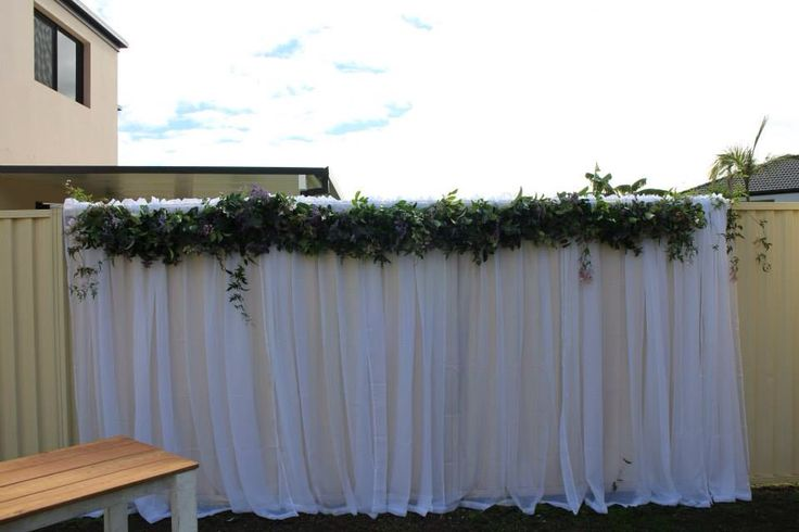 Floral Wall garland. Opium Wedding Flowers, Gold Coast, Australia