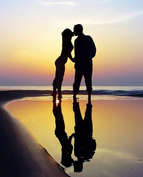 Couple Beach Silhouette