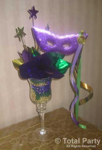 mardi gras centerpieces | NJ Party Decorations - Event Centerpieces for Weddings & Bar/Bat ...