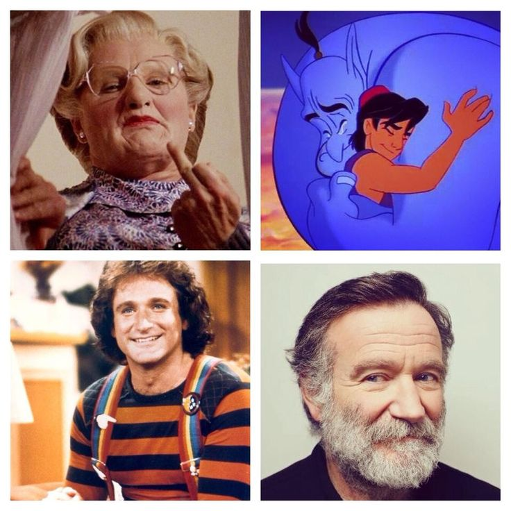 Mix of characters Robin played throughout his career.