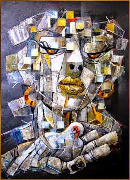 by Carlos Alberto Gonzales Palomino-Panama 1941-2013 #abstract #art #design #acrylic #painting