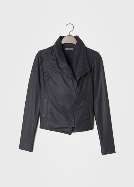 I tried this Vince leather jacket on and took it off about 6 times yesterday. Sigh. It looks amazing on.: Vince Small, Leather Scubas, Scubas Jackets, Vince Leather, Grey, Leather Jackets, Paper Leather, Scubas Body