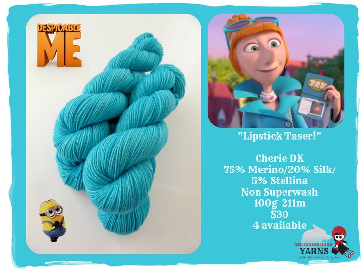 """Lipstick taser!""  - Despicable Me / Red Riding Hood Yarns"