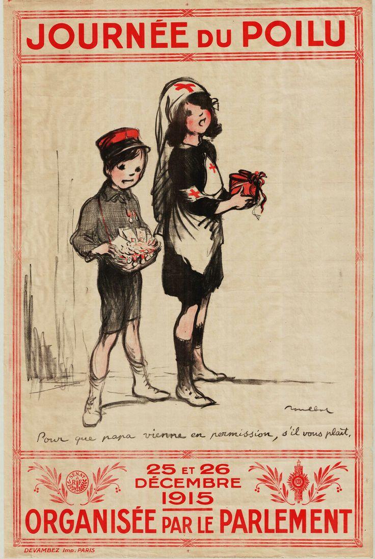 """- Collection Archives de Seine-Maritime -""""Journée du poilu : 25 et 26 décembre 1915, organisée par le Parlement"""". Devambez (André), imprimeur à Paris ; Poulbot (Francisque), dessinateur, 1915, 169 Fi guerre 14-18 658."""