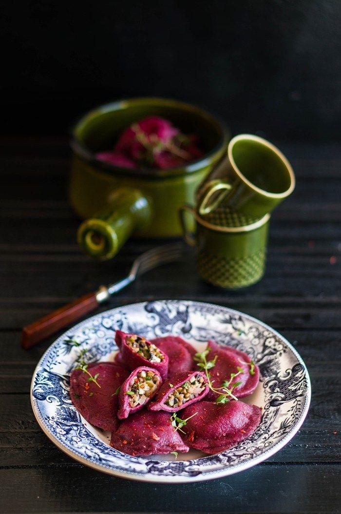 #obiad #pierogi #buraczki #kasza #gryczana #ogórek #kiszony…