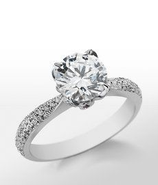 Monique Lhuillier Pavé Leaf Engagement Ring in Platinum bluenile pinthelove @Blue Nile