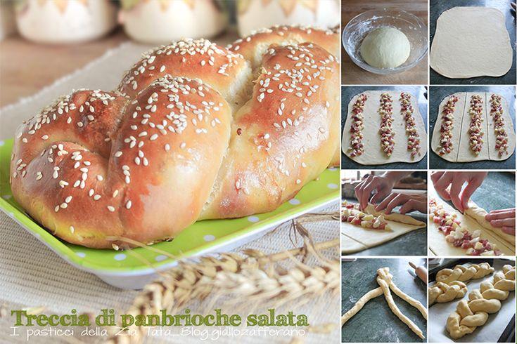 Treccia di pan brioche con salumi - ricetta lievitata  http://blog.giallozafferano.it/laziatata/treccia-di-pan-brioche-con-salumi-ricetta-lievitata/