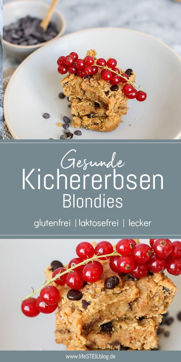 Vegane glutenfreie Blondies aus Kichererbsen