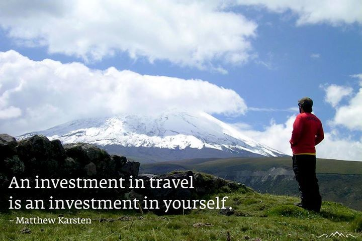 traveling is investment