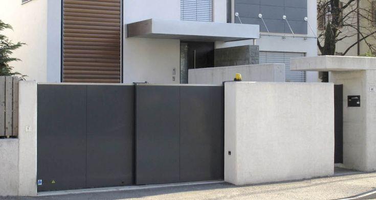 1000 id es sur le th me portail coulissant sur pinterest portail alu portail en aluminium et. Black Bedroom Furniture Sets. Home Design Ideas