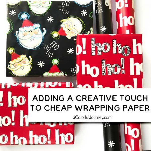 How I altered cheap wrapping paper art journaling style