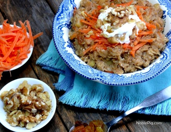 Noble Pig | Carrot Cake Oatmeal: Carrot Cake Oatmeal, Food Recipes, Carrot Cakes, Breakfast Ideas, Noblepig Com Desserts, Carrots Cakes Oatmeal, Noblepigcom Desserts, Breakfast Oatmeal, Breakfast Brunch
