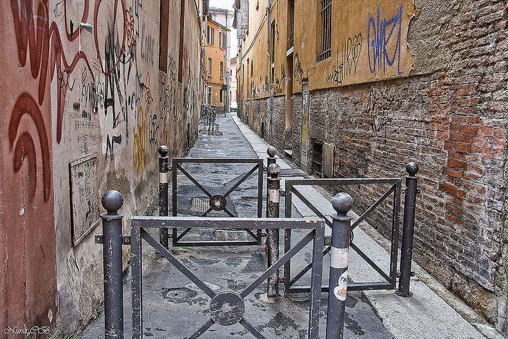 Una calle de Bolonia- Carrer de Bolonia