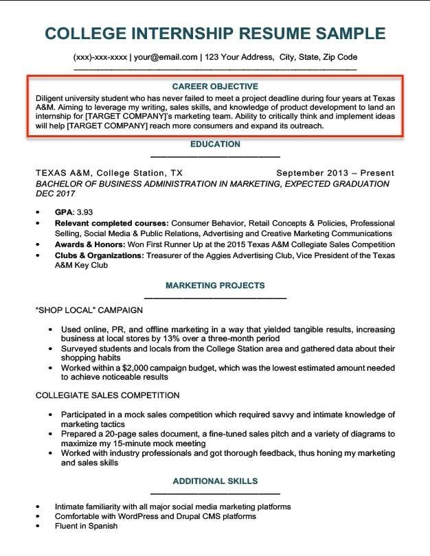 How to Write a Career Objective  15 Resume Objective