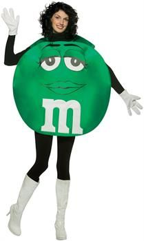 PartyBell.com - M&Ms Green Poncho Adult Costume