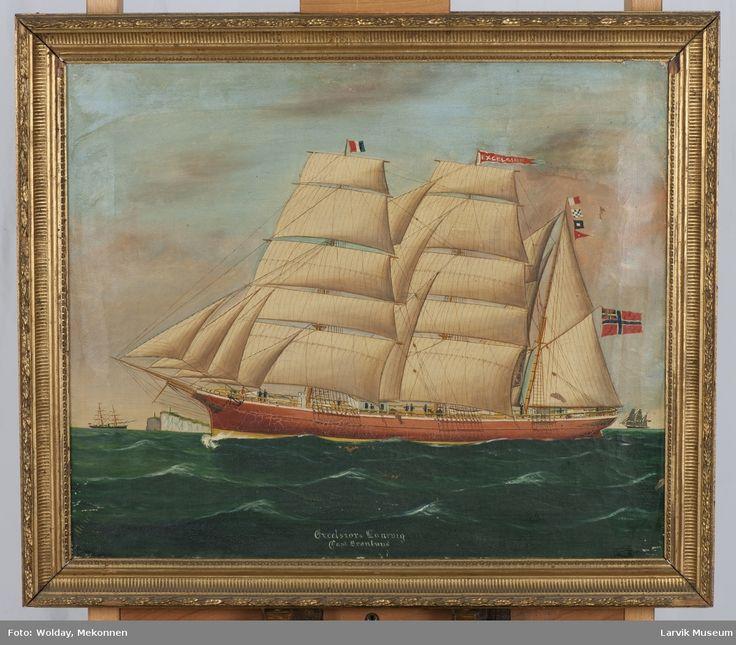 Excelsior af Larvik, malt av Reginald Arthur Borstel.