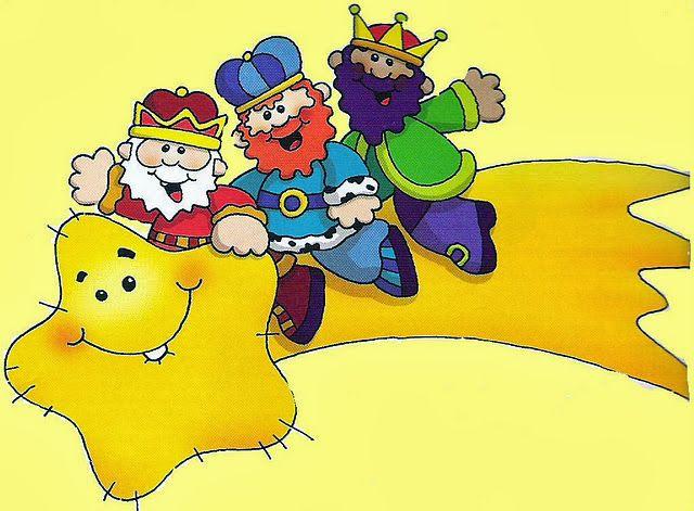 Maestra de Primaria: Dibujos de los Reyes Magos para colorear o imprimir a color.