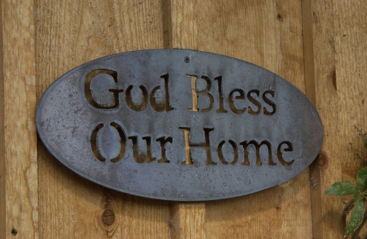 God Bless Our Home Metal Sign Make your own metal art