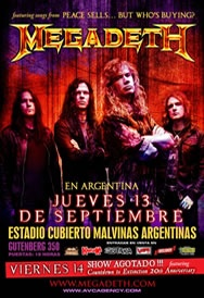 Megadeth + Dave Mustane = insane concert