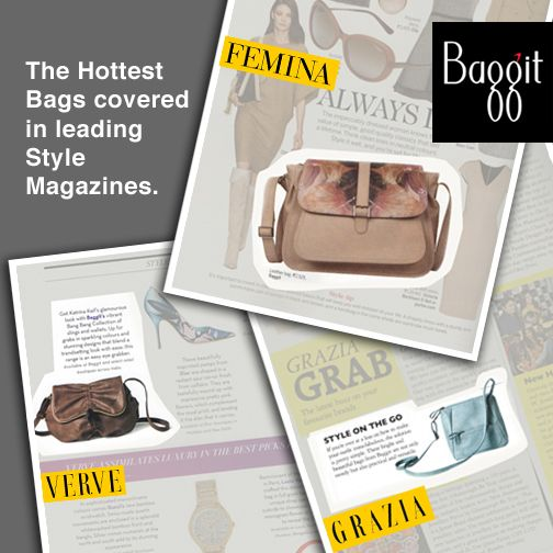 Making a mark in the fashion world! Three individual Sling Bags from Baggit are featured in different leading fashion magazines, namely #Femina #Grazia and #Verve modishly. Deck up your wardrobe with these amazing numbers and get fashionable with Baggit, today! Visit our exclusive stores or log on to www.baggit.com