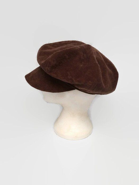 1db236d3b1988c Excited to share this item from my #etsy shop: NewsBoy Hat, Newsboy Cap,  Brown, Faux Suede, Bakers Boy Hat, Slouchy Hat, Poor Boy Hat, Winte…