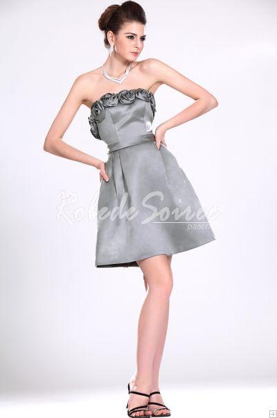 Nouveau bustier grise robe de demoiselle [ROBECOCKTAIL0066] - €112.65 : Robe de Soirée Pas Cher,Robe de Cocktail Pas Cher,Robe de Mariage,Robe de Soirée Cocktail.