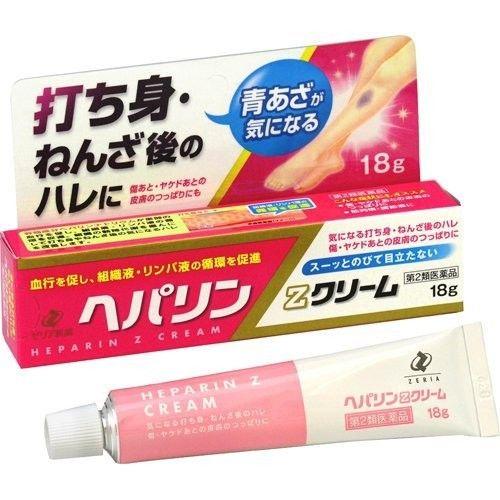商品紹介●主成分のヘパリンナトリウムが血液や組織液・リンパ液の循環を促進して,気になる打ち身やねんざ後のハレに効果を発揮します。●傷・ヤケドあとの皮膚のつっぱりなどもじっくりと治していきます。●白色でのびがよいクリームです。