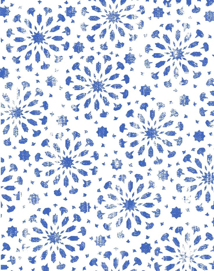 Maroccan Star Tile - Blue & White