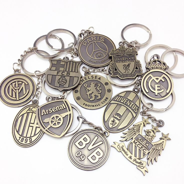 Araba tasarım Futbol Kulübü Anahtarlık Manchester Arsenal Juventus Inter vb şampiyonu anahtarlık Araba Anahtarlık hatıra Anahtarlık