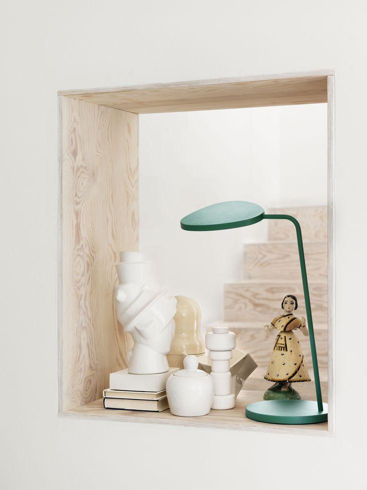 Muuto Leaf Tafellamp Broberg & Ridderstrale Prijs: 179,-  Afmetingen: H 41,5 x Ø 18,5 cm Materiaal: Aluminium
