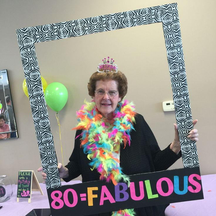 We made this photo frame for my Mom's 80th birthday!!!We had so much fun!!!!! Black foam board, zebra duct tape and adhesive letters Voila!!!