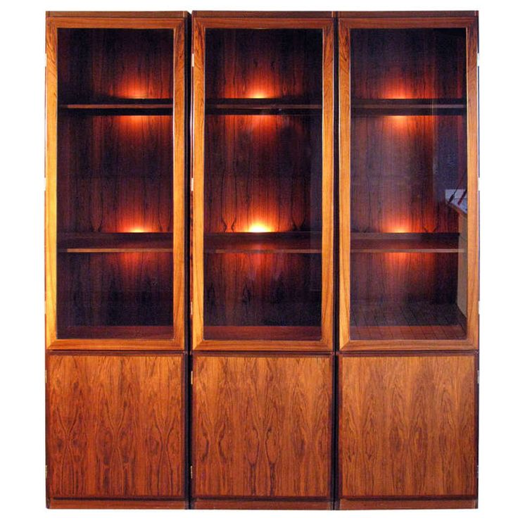 danish modern rosewood vitrines from a unique collection of antique and modern vitrines at http
