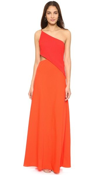 Jill Jill Stuart One Shoulder Cutout Gown