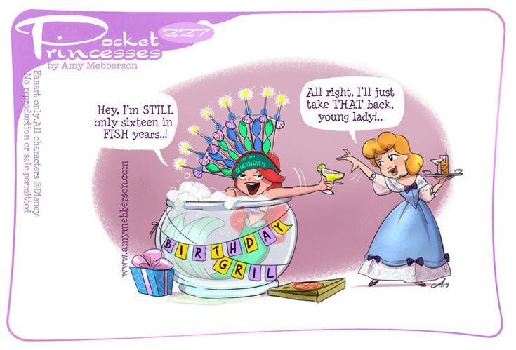 Pocket Princesses 227: Birthday Girl Please reblog, don't repost, edit or remove captions Facebook - Instagram