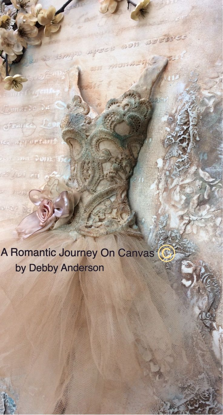 A Romantic Journey on Canvas © by Debby Anderson One of Three Projects ~ Artful…