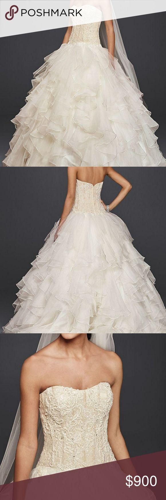 I just added this listing on Poshmark: Oleg Cassini Wedding Dress David's Bridal. #shopmycloset #poshmark #fashion #shopping #style #forsale #Oleg Cassini #Dresses & Skirts