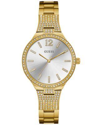GUESS Women's Gold-Tone Stainless Steel Bracelet Watch 35mm U0900L2 | macys.com