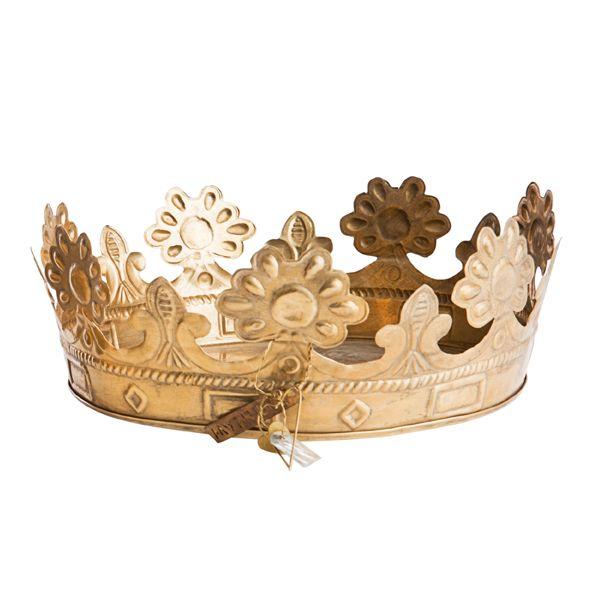 grand plateau couronne en laiton .:serendipity.fr:.