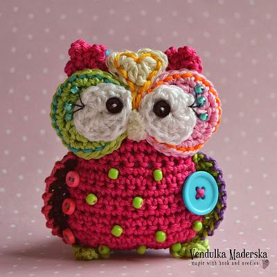 Crochet owl by Vendulka Maderska from Magic with hook and needles